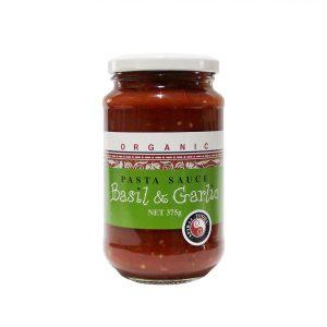 Organic Tomato Pasta Sauce - Basil + Garlic - Bundeena Organics