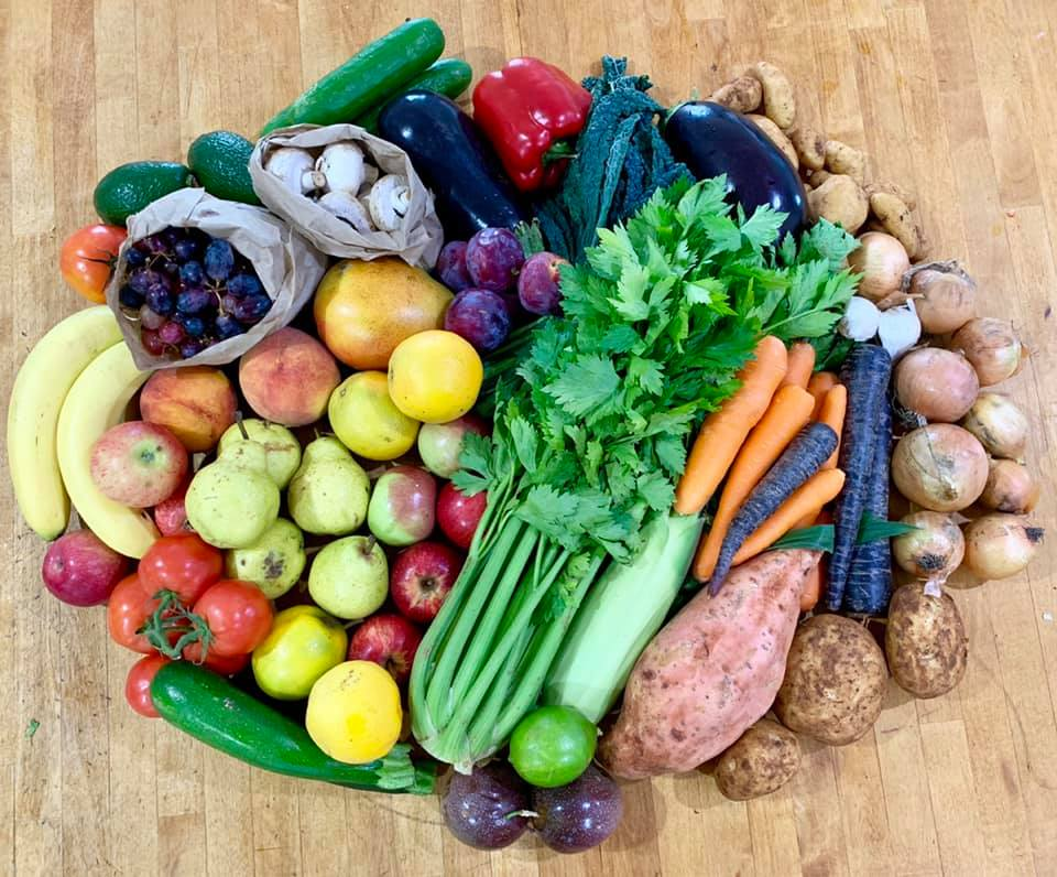 Organic Mixed Seasonal Fruit + Veg Box 2 Mar 2020 - Bundeena Organics