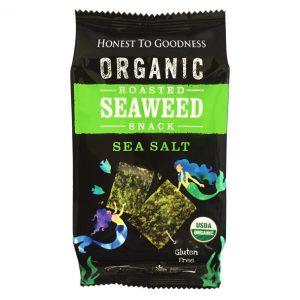 Organic Roasted Seaweed Snack - Sea Salt - Bundeena Organics1