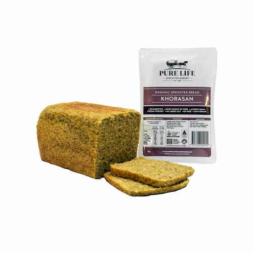 Khorasan Sprouted Bread Pure Life - Bundeena Organics