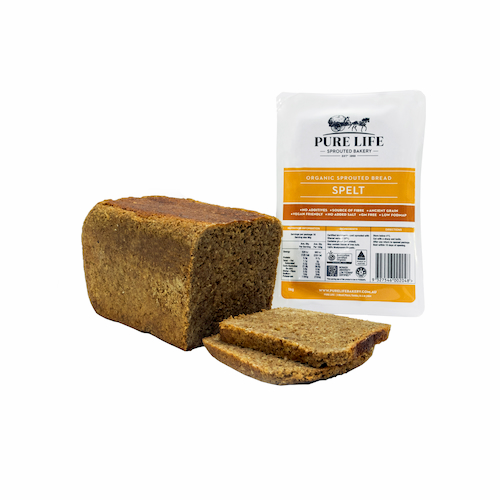 Spelt Sprouted Bread Pure Life - Bundeena Organics
