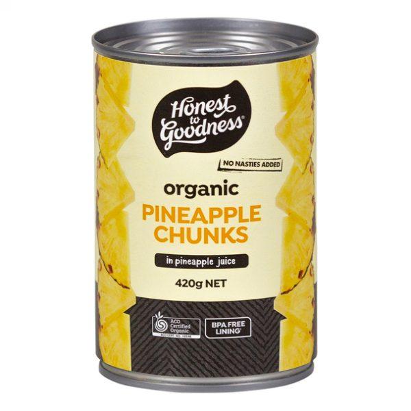 Organic Pineapple Chunks - Bundeena Organics